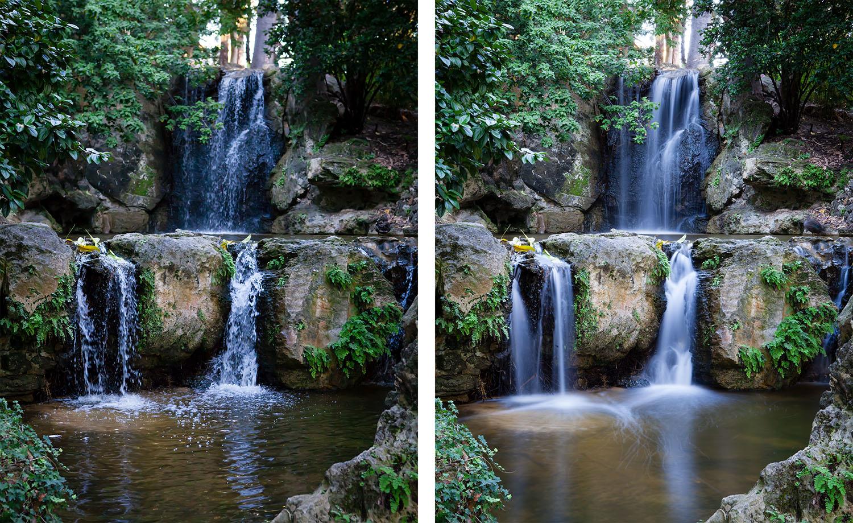 Shutter speeds effect on photos